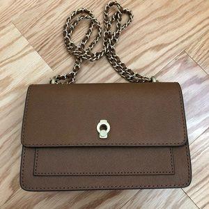 Etienne Aigner Satchel Crossgrain Leather Handbag